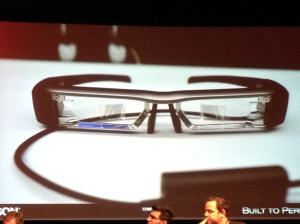 The Epson Moverio BT-200 Smart Glass Closeup