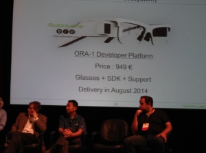 Optinvent's ORA Pricing Shown at the Augmented World Expo 2014