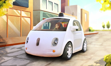 A prototype of Google's self-driving car