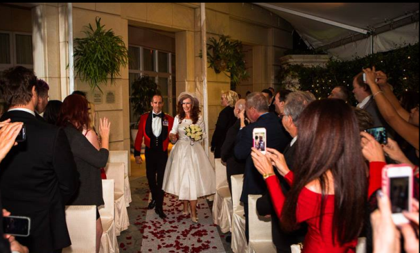 Marsha Collier being Walked Down the Aisle Wearing Google Glass