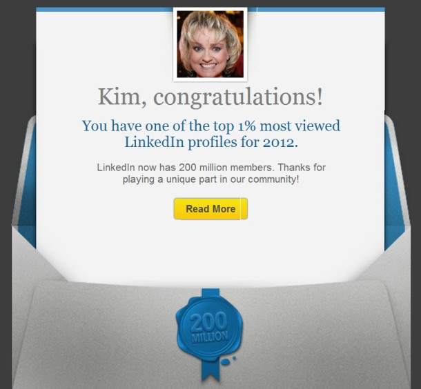 Top 1% of Viewed Profiles on LinkedIn