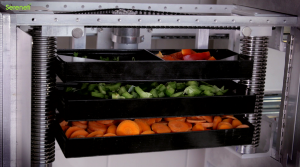 Load Food Trays into Cooki and Click! Your Robotic Chef Finishes the Meal