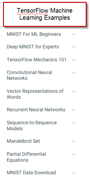 TensorFlow Machine Learning Examples